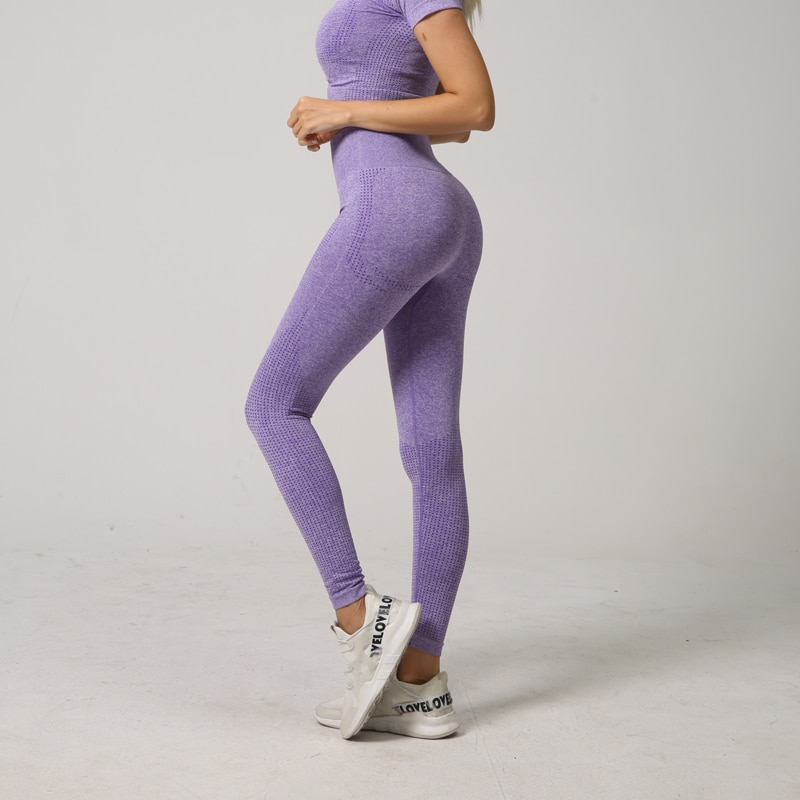 Mulheres sem Costura Calças de Cintura Energia Leggings Fitness Correndo Yoga Alta Push up Esporte Menina Ginásio