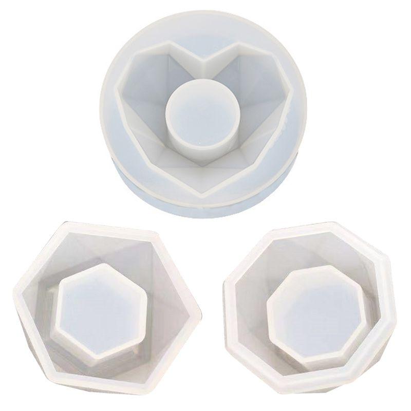 DIY Aromatherapie Gips Kerze Handgemachte Seife Epoxy Form Diamant Hexagon Multi-Flesh Blumentopf Silikon Form