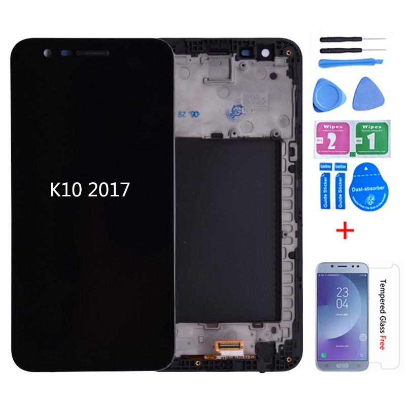 Original para LG K10 2017 M250N X400 pantalla LCD con Digitalizador de pantalla táctil con marco M250 M250DS LCD para LG K10 2017 K20 Plus