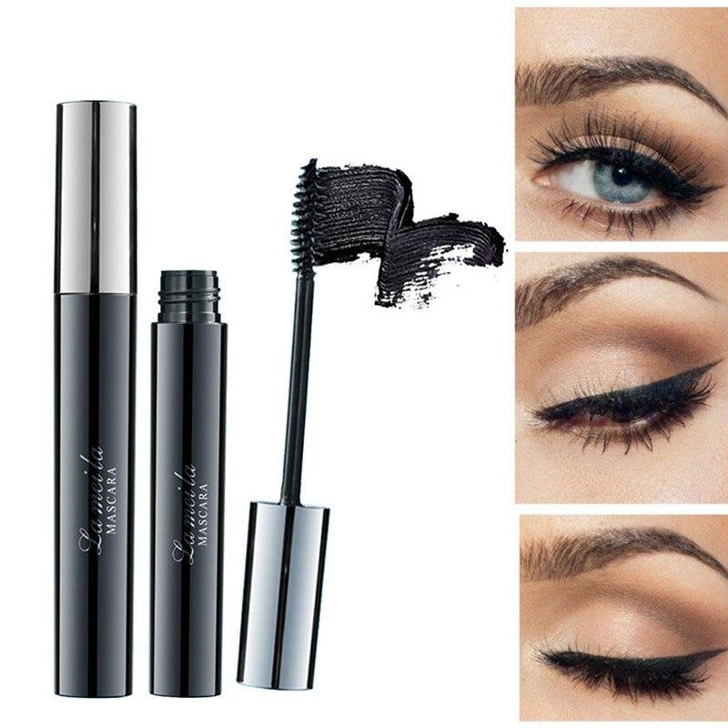 Mascara Lash Cosmetic Silk Fiber Extension Eyelash Makeup Volume Express Long Curling Collagen Black