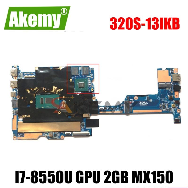 Akemy لينوفو 320S-13IKB 320S-13 اللوحة الأم للكمبيوتر المحمول 1701A_05_01 V13 320S-13 وحدة المعالجة المركزية i7-8550U وحدة معالجة الرسومات 2GB MX150 8GB ذاكرة الوصول العشو...