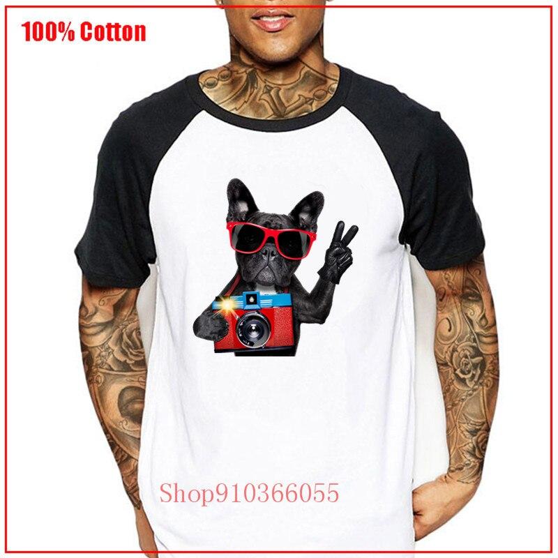 Verano Hot Dog fotografiando divertida camiseta gráfica de dibujos animados hombres Camiseta corta lindo estilo de moda camiseta carismático Guy camisetas