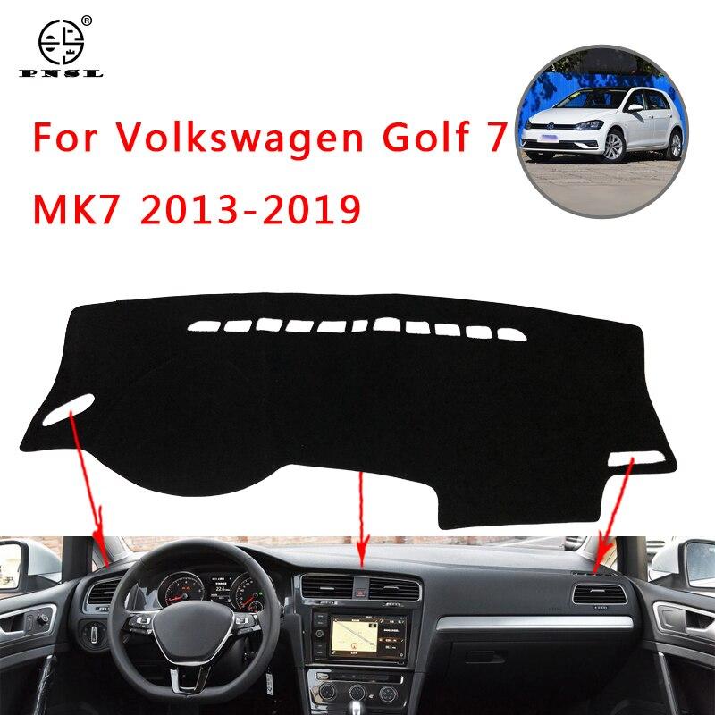 Pnsl Auto Dashboard Cover Dash Mat Dash Pad Tapijt Voor Volkswagen Golf 7 MK7 2013 ~ 2019 Zon Blok Anti-Slip Anti-Uv Houden Wa