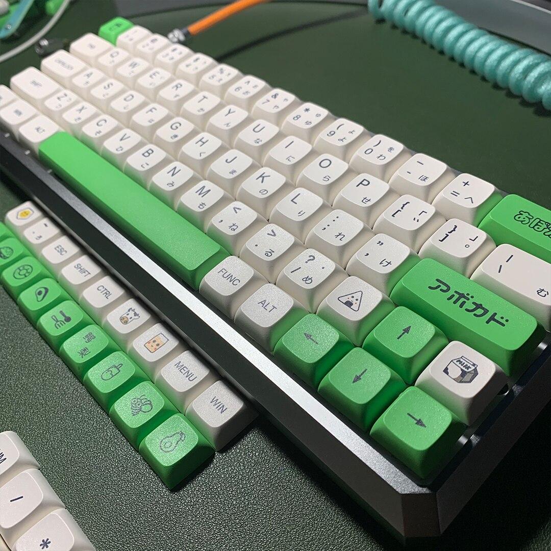 Avocado milk key, 137 key, PBT, sublimation, XDA, mechanical keyboard, Japanese and English, round, 61 key enlarge