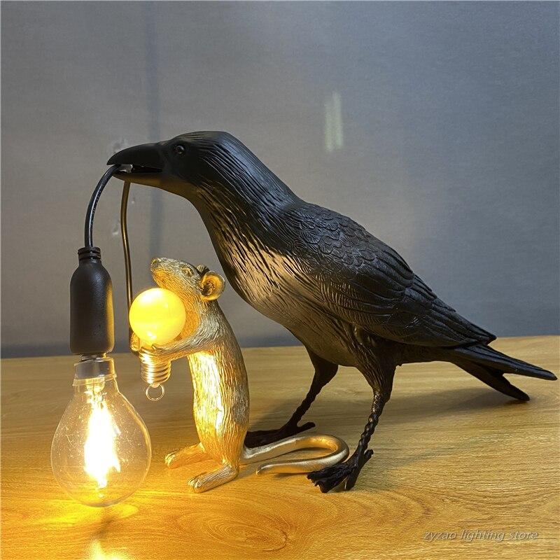 محظوظ الطيور مصباح مصابيح بجانب الطاولة الأطفال طاولة لغرفة النوم ديكور إضاءة للطاولات هدايا الطفل منضدة سطح المكتب جو Led مصباح