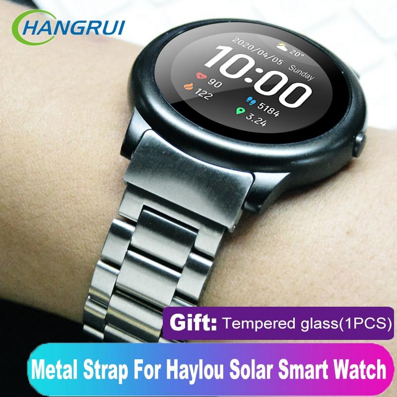 Pulseira de metal para haylou ls05 solar banda aço inoxidável pulseira de pulso correias para xiaomi haylou solar ls05 relógio inteligente correia