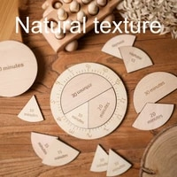 baby wooden cognitive clock montessori early educational matching clock toys geometry digital puzzles gadgets for kids gifts
