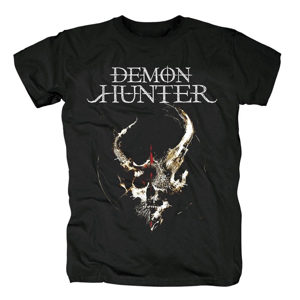 Demon Hunter live in nashville funda de álbum metalcore demon hunter metal cristiano camiseta negra para hombre talla asiática
