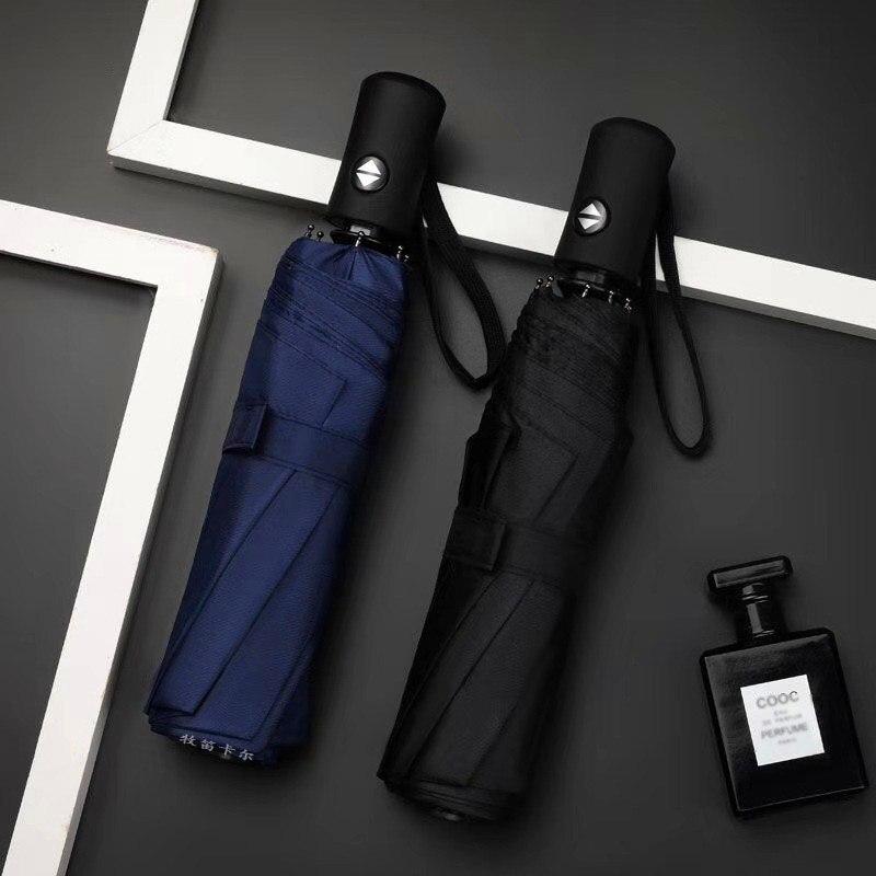 Strong Wind Resistant Folding Automatic Umbrella Men Women Rain Large Umbrellas Business Portable Long Handle Parasol
