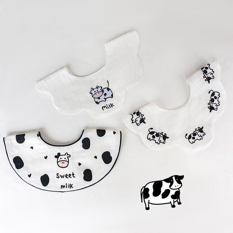 3Pcs/Lot Baby Girls Bibs Breathable Scarf Cotton Gauze Kids Collar Decoration Saliva Towel Boys Feeding Burp Cloth Bandana 0-2T