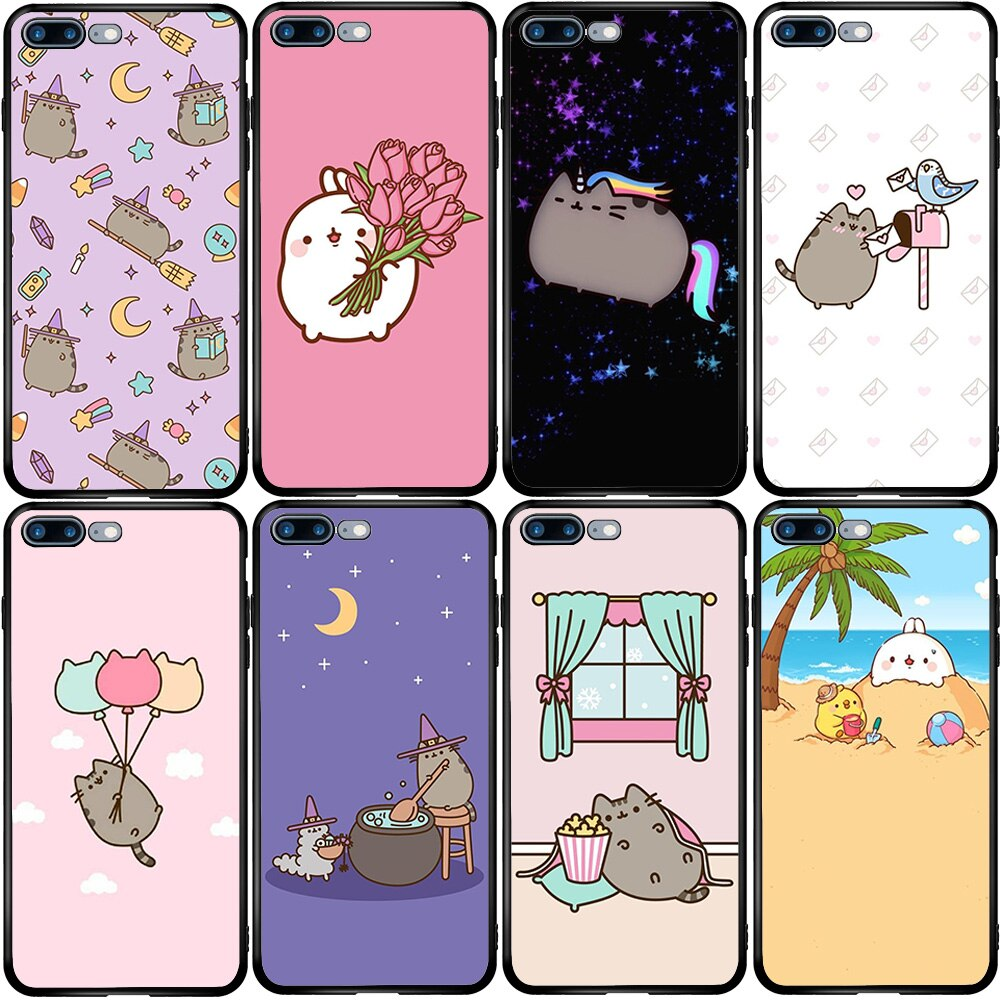 Dulce de Halloween Kawaii caso de la cubierta para el iPhone 5 5S SE 6 6S 7 8 Plus XR X XS X 11 Pro Max Oneplus 3 T 5T 6T 7