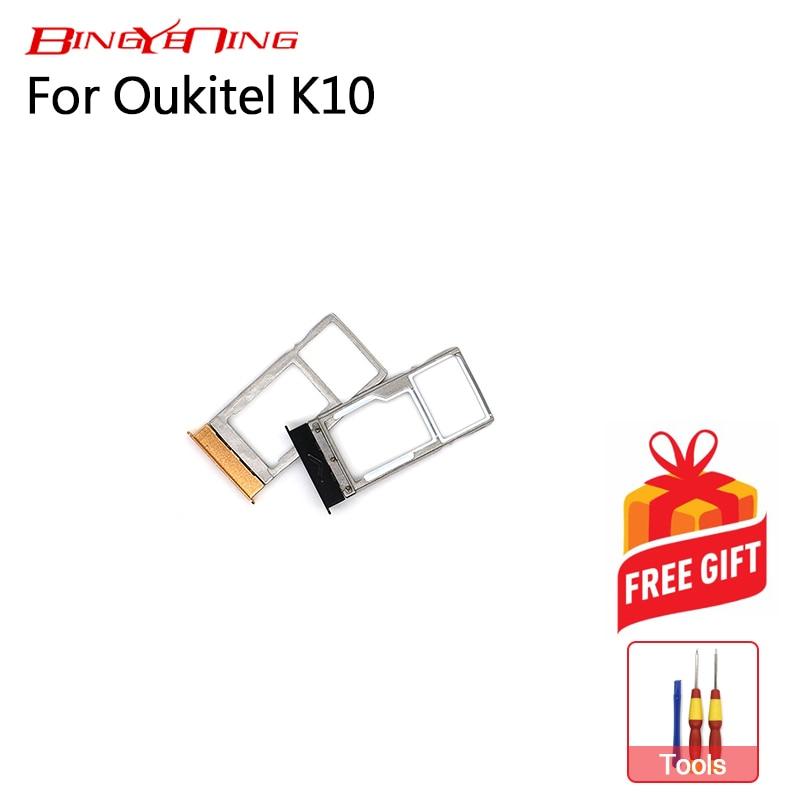BingYeNing nuevo Original principal para Oukitel K10 soporte para tarjeta SIM 100% soporte de bandeja con ranura para tarjeta SIM Original