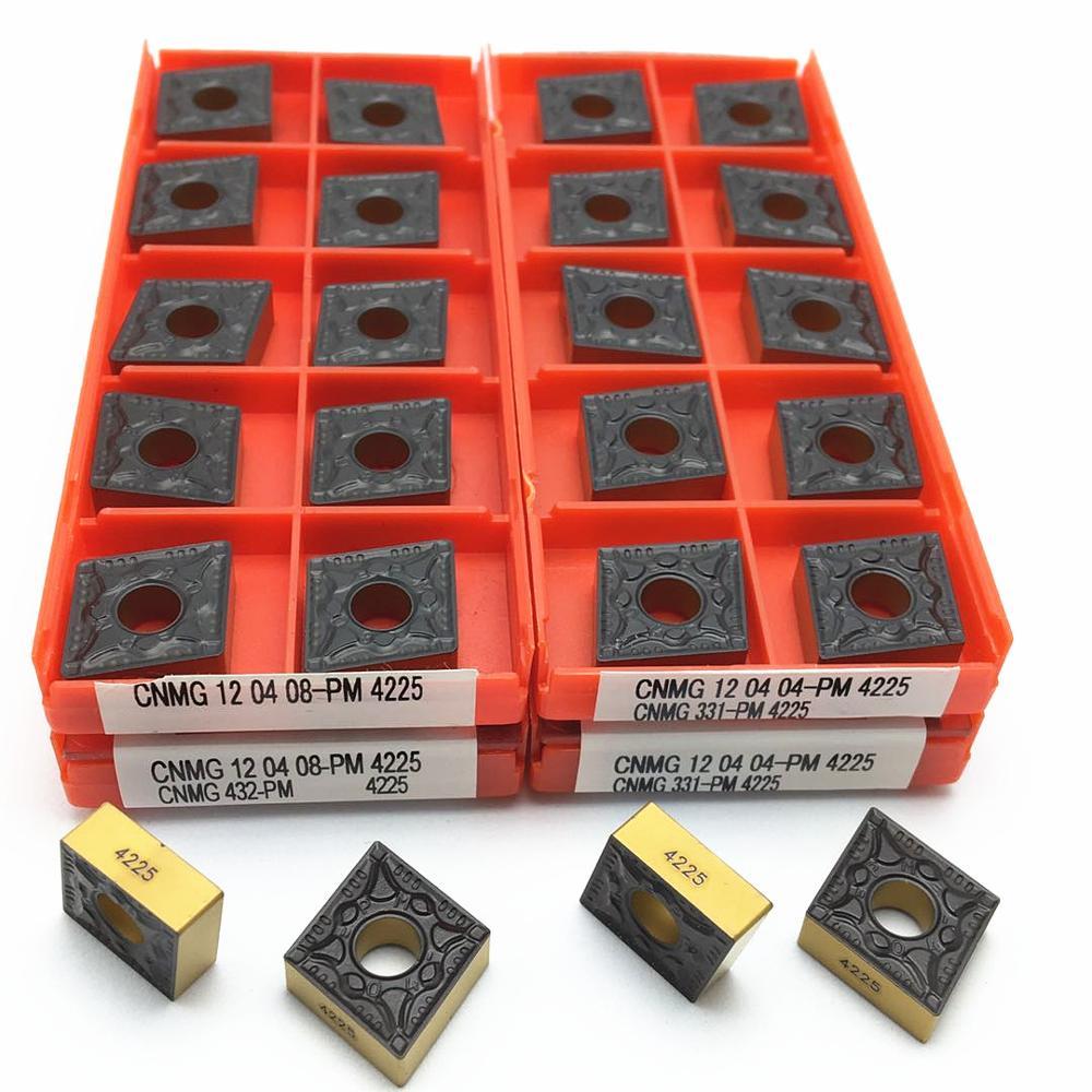 عالية الجودة CNMG120404 CNMG120408 PM 4225 تحول إدراجات كربيد CNC أدوات تحول أدوات القطع والطحن