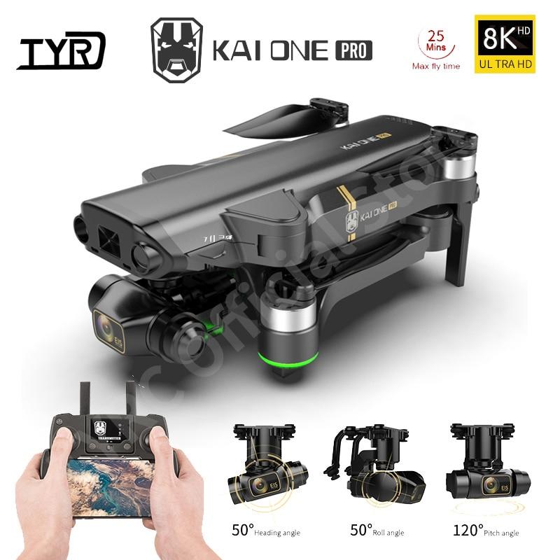 كاي ون برو غس الطائرة بدون طيار 8K هد كاميرا مزدوجة ثلاثة محاور جيمبال فرش السيارات مع 5G واي فاي كوادكوبتر أرسي المسافة 1.2 كجم الهدايا