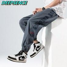 Men 2021 Spring Autumn New Fashion Casual Sweatpants Men Drawstring Hight Street Streetwear Loose Fi