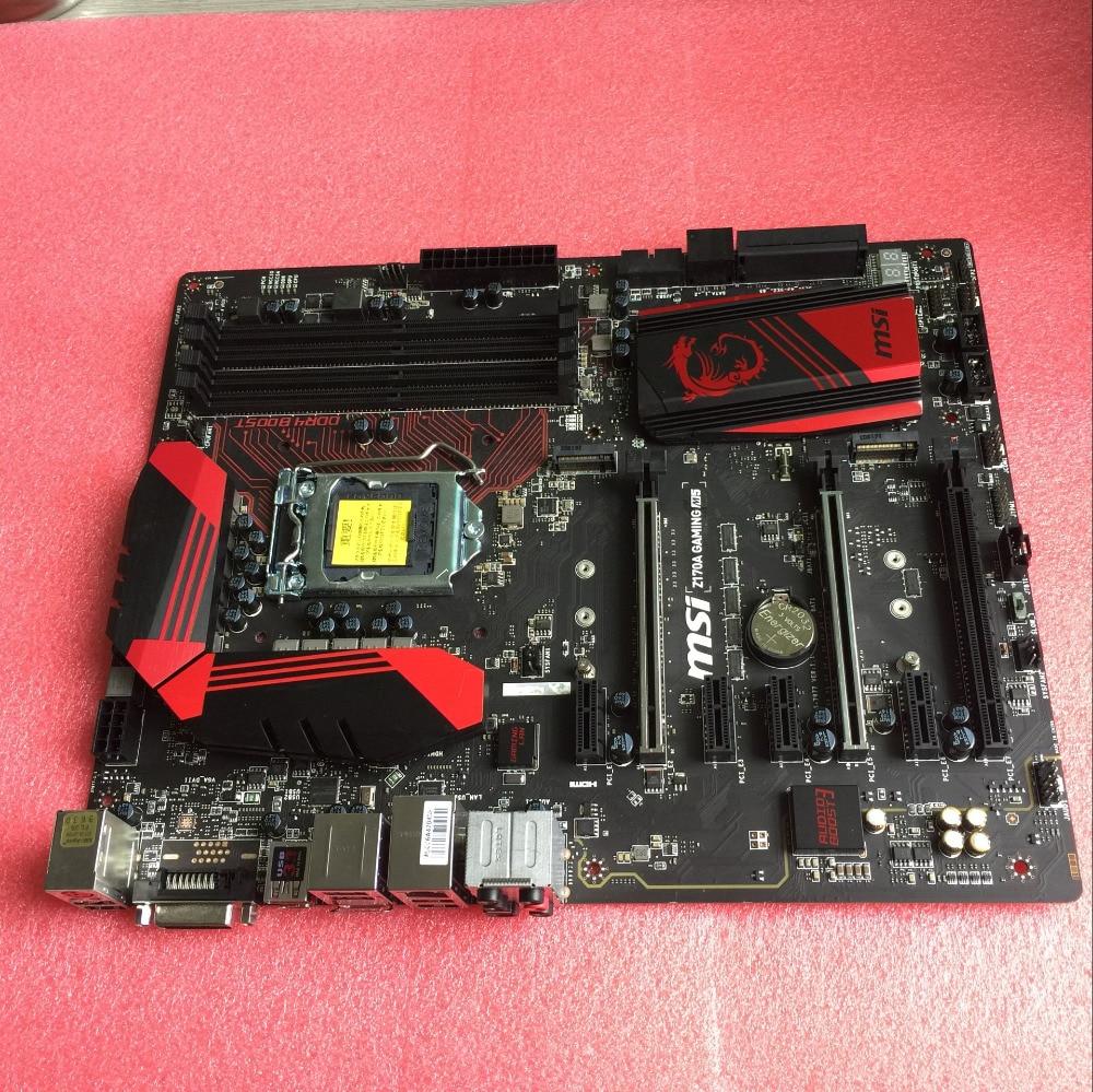 الأصلي MSI اللوحة ل Z170A الألعاب M5 LGA 1151 DDR4 ل I3 I5 I7 14nm CPU USB3.0 USB3.1 64GB Z170 سطح اللوحة