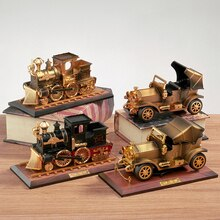 Vintage Train Shape Music Boxes W/ Base Toy Craft, Creative Kids Gift