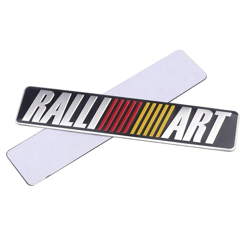 Etiqueta engomada del emblema de aluminio del estilo del coche de Metal 3D para Mitsubishi Asx Lancer Pajero Outlander L200 Delica Eclipse Galant