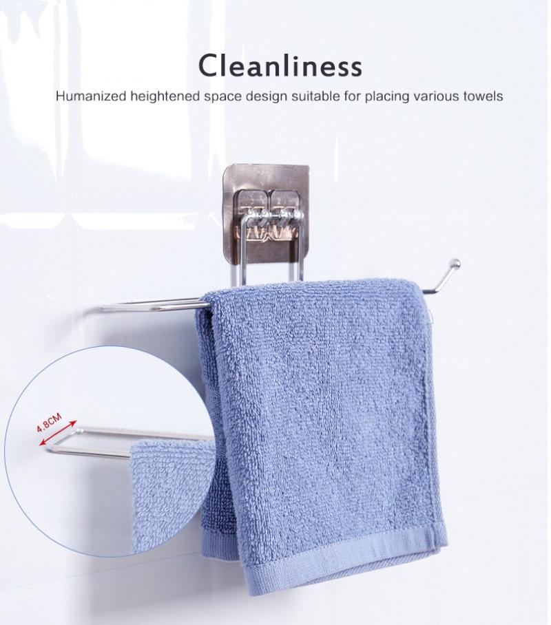 Vonios ir virtuvės reikmenų rankšluosčių laikiklių laikymo - Organizavimas ir saugojimas namuose - Nuotrauka 4