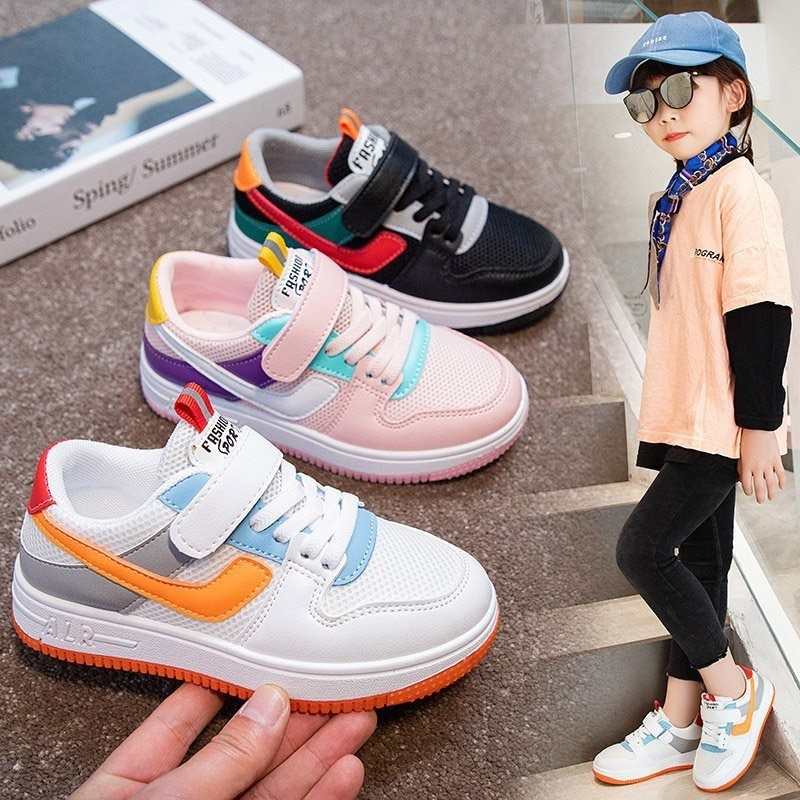 Kids Children's White Shoes Boys and Girls Breathable Mesh Summer Elementary School Indoor Soft-sole