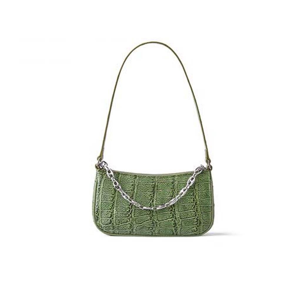 Gete جديد جلد التمساح الإناث حقيبة يد المد الجديد حقيبة صغيرة سلسلة نسائية حقيبة حقيبة كتف مفردة المرأة أمريكا التمساح حقيبة
