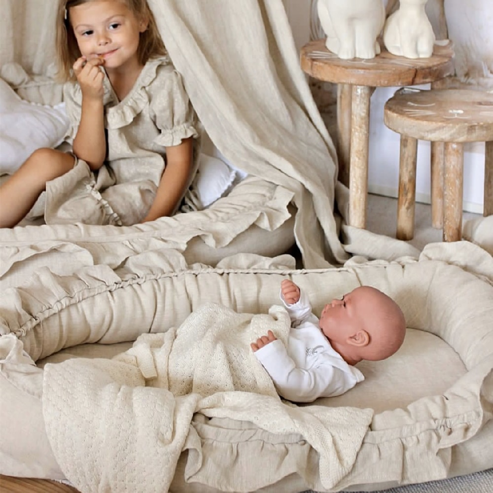 Portable Babynest Newborn Baby Nest Bed Crib Travel Bed Baby Nest Baby Lounger Pillow Cushion Bassinet Bumper