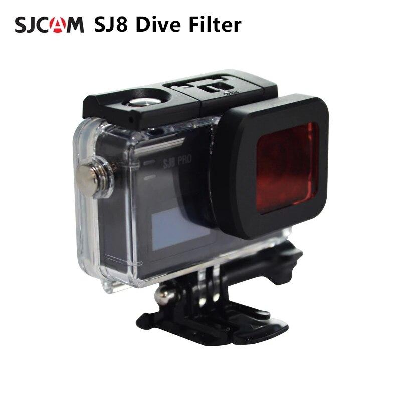 Filtro de Mergulho à Prova Proteção para Sjcam Dwaterproof Água Habitação Case Lente Filtro Vermelho ar – Plus Pro Ação Câmera Sj8