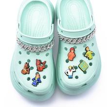 Simpatici accessori per ciondoli per scarpe decorazione per scarpe in PVC per braccialetti Croc JIBZ
