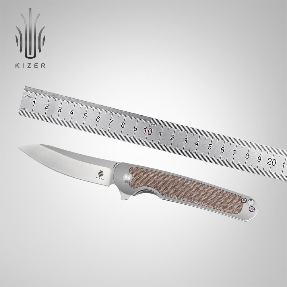 كيزر سكين للفرد KI4556A3 مخلب 2020 الوافدين الجدد التيتانيوم + ميكارتا مقبض مع S35VN شفرة فولاذية سكين أدوات البقاء على قيد الحياة