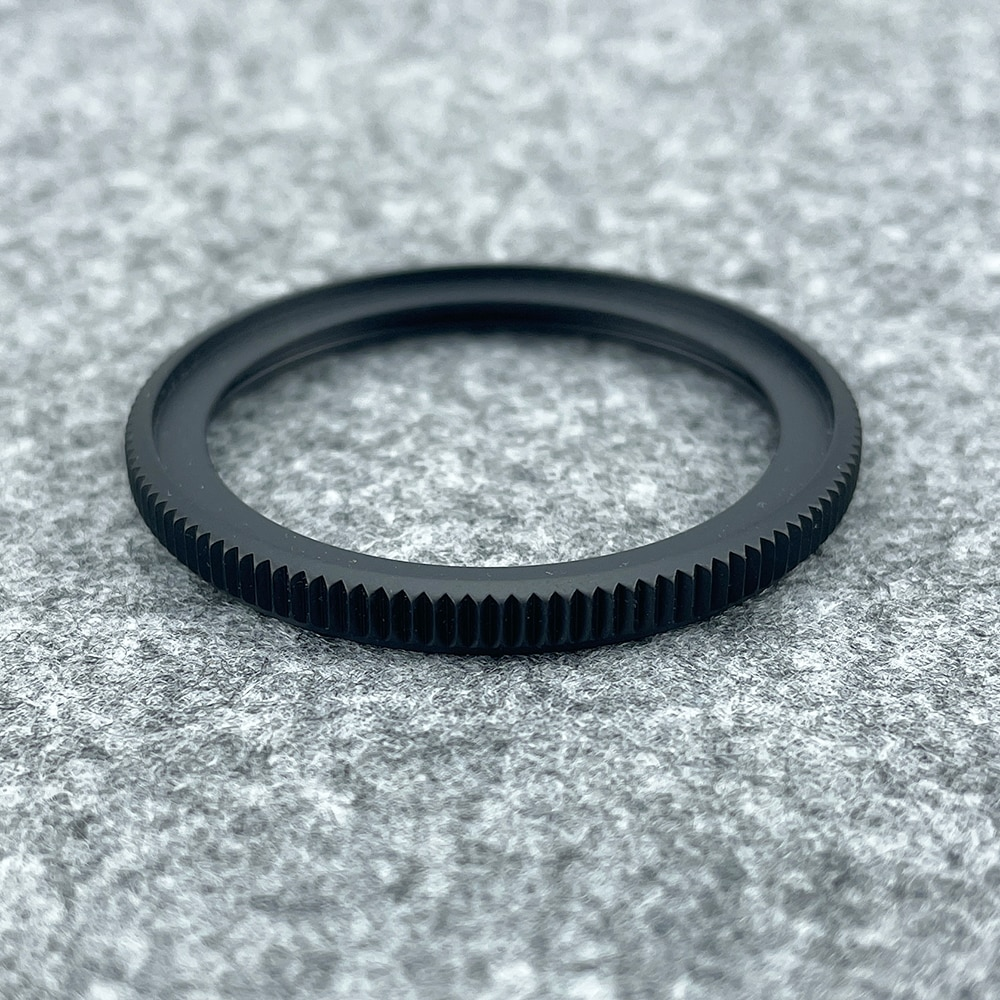 حشية من الفولاذ المقاوم للصدأ ، SKX007/SKX011/SKX009/SRPD ، حافة عملة عصرية ، إطار أسود غير لامع ، 316L