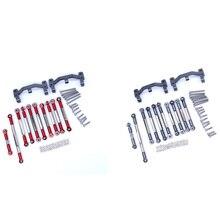 for WPL B1 B-1 B14 B-14 B24 B-24 C14 1/16 RC Car Spare Parts Upgrade Metal Pull Rod Steering Pull Ro