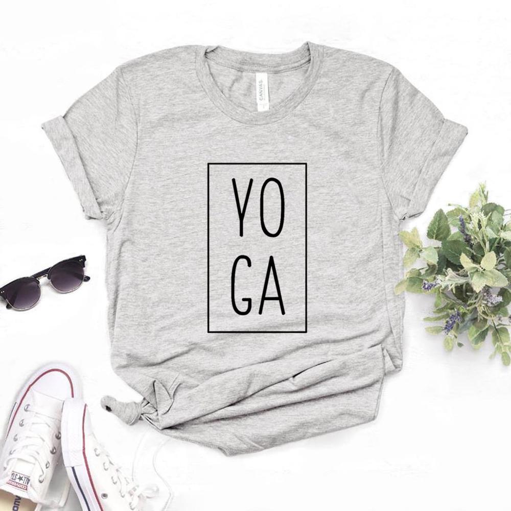 Camiseta divertida Casual de algodón con estampado cuadrado de Yoga para mujer camiseta para dama Yong Girl camiseta Hipster 6 colores NA-890