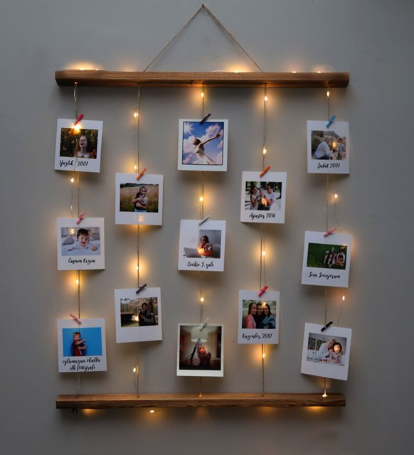 12 фото защелкивается веревка 3 mt светодиодный светильник фото вешалка для дома-стены украшения на день рождения-Юбилей подарок