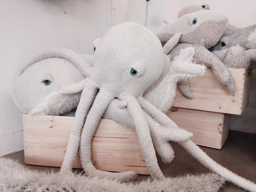 Cute Octopus Pillow Octopus Starfish Dolphin Styling Cushion Baby Doll Home Decoration Kids Children Plush Toys