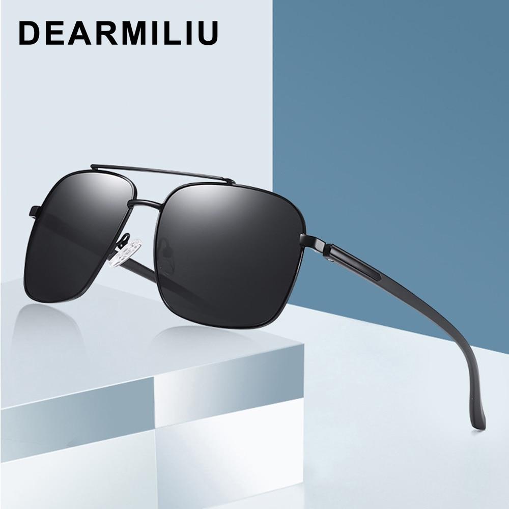 DEARMILIU, Gafas De Sol polarizadas para hombre, Gafas De Sol cuadradas De Polit para conducir, Gafas De Sol clásicas UV400, Gafas De Sol para hombre