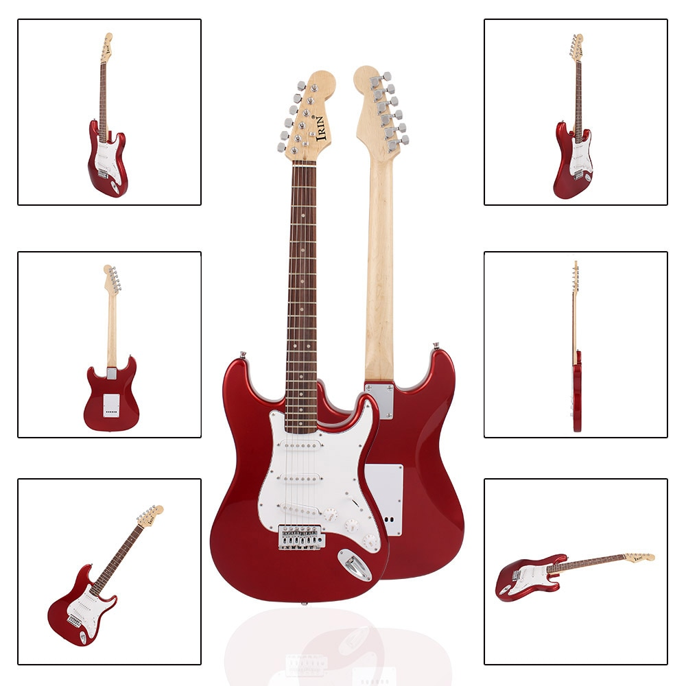 M MBAT 21 Frets Electric Guitar Kit Solid Wood Body Maple Neck 6 Strings Guitar Picks Strap Bag Tuner String Parts Accessories enlarge