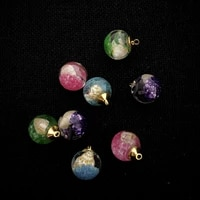 transparent spherical pendant resin filled conch colored rhinestones to make exquisite jewelry birthday holiday gifts wholesale