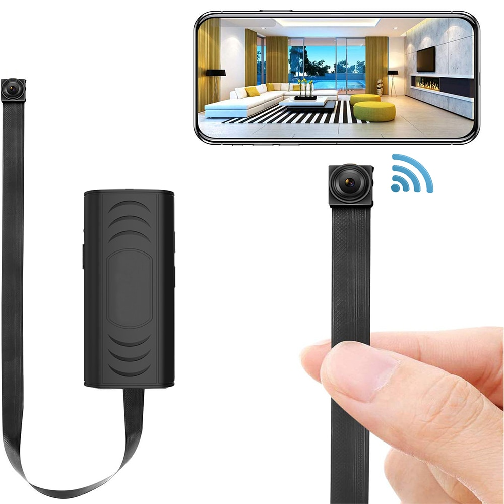 HUOMU-كاميرا أمان منزلية صغيرة مخفية ، 1080 بكسل ، HD ، لاسلكية ، واي فاي ، كاميرا مراقبة عن بعد ، مراقبة مربية ، مسجل صغير