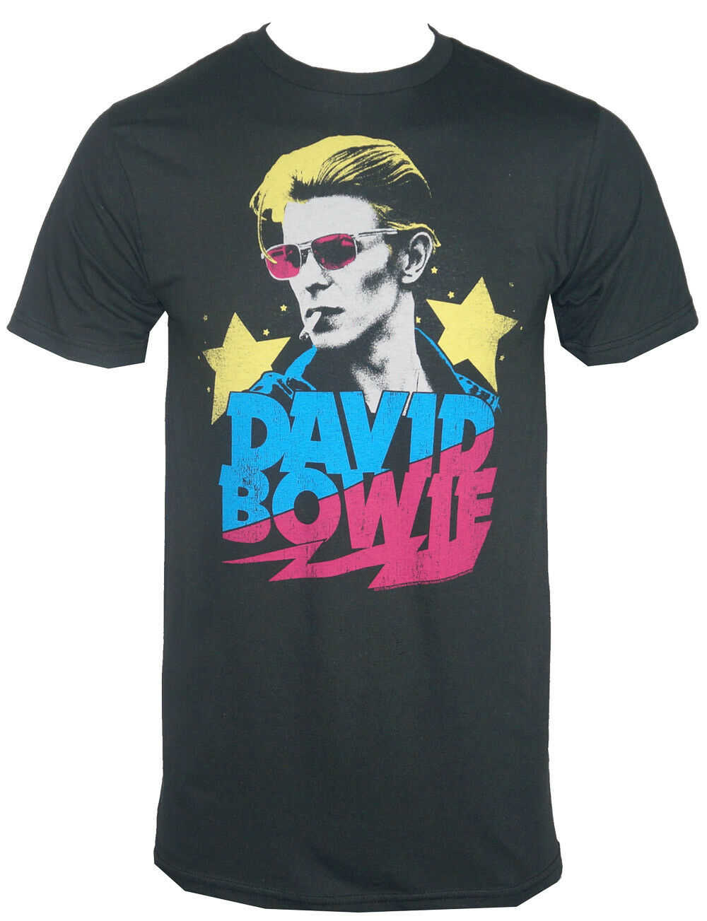 Camiseta auténtica con Logo de David Bowie Starman con foto de fumador, Camiseta de algodón para S-3xl, nuevo verano, envío gratis, camiseta a la moda para hombre
