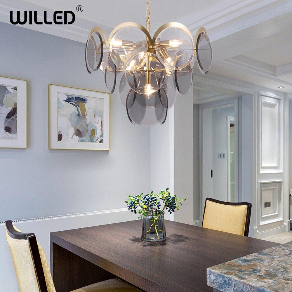 Modern Luxury Crystal pendant light indoor iron glass hanging lamp luxury lighting for Living Meeting Room restaurant Art Deco