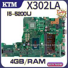 X302L pour ASUS X302LA X302LA/LJ X302LJ carte mère dordinateur portable X302LA carte mère test OK I5-5200U cpu 4GB-RAM