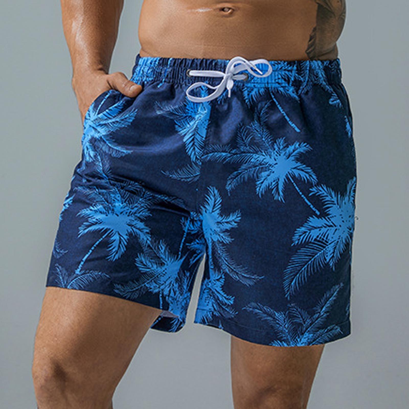 Мужские плавки, быстросохнущие пляжные шорты для плавания, купальный костюм, одежда для серфинга, бега, плавания, летние шорты на шнуровке, ш...