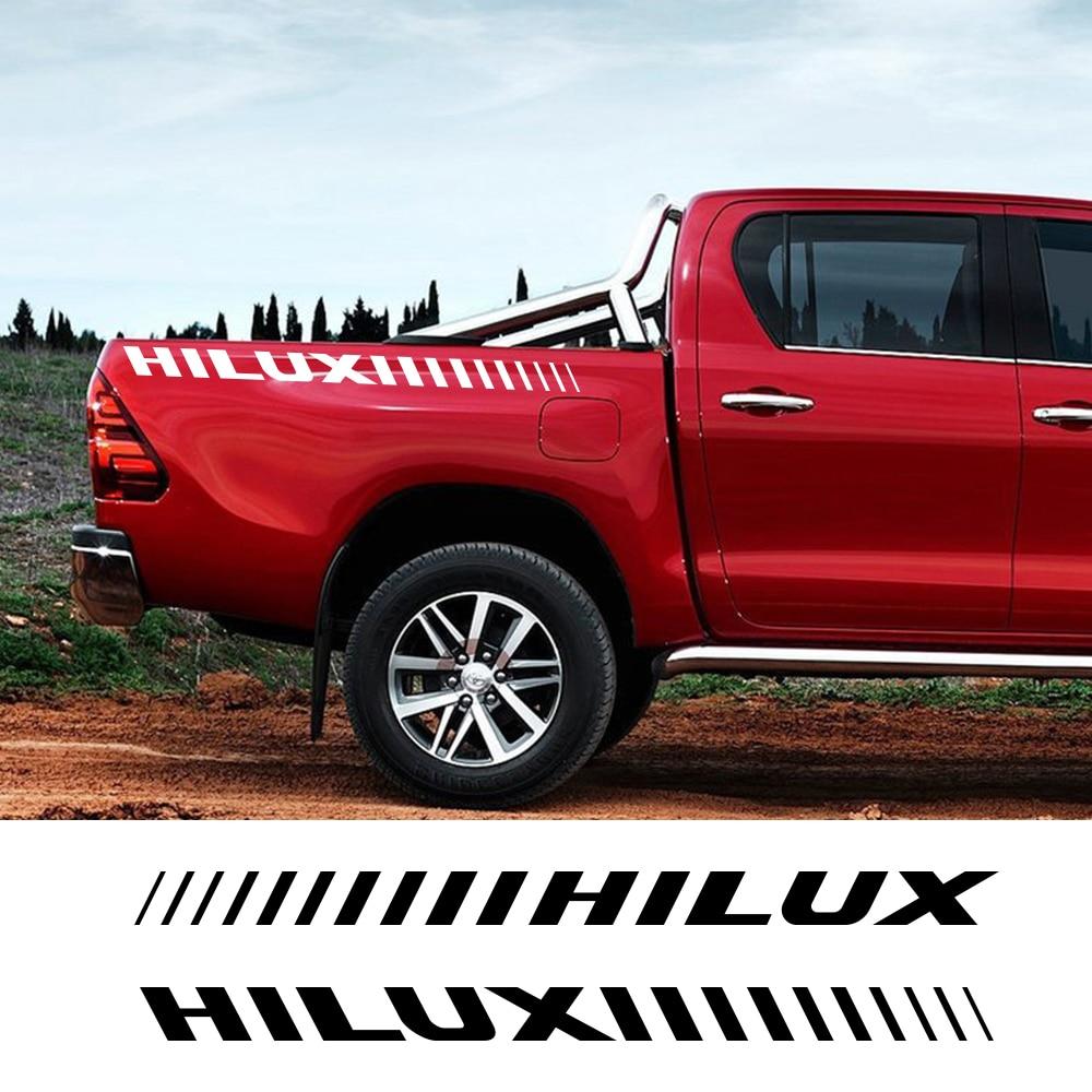 Coche lateral para carrocería de rayas pegatinas para Toyota Hilux Revo Vigo Auto portón trasero correas deporte de carreras de calcomanías de personalización de automóviles Accesorios
