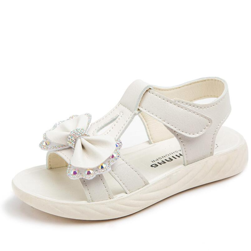 Children's Sandals Summer Girls Shoes New Princess kids Sandals For Girls Lovely Rhinestone Butterfly Beach Shoes