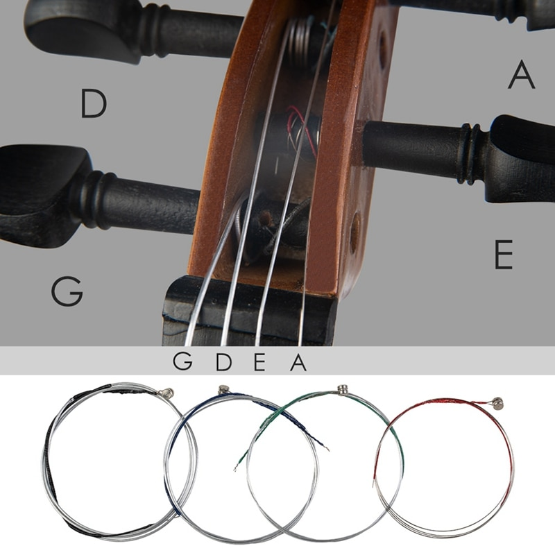 10 Pcs High Quality Violin Strings Size 3/4 & 4/4 Violin Strings Steel Strings G D a and E Strings enlarge