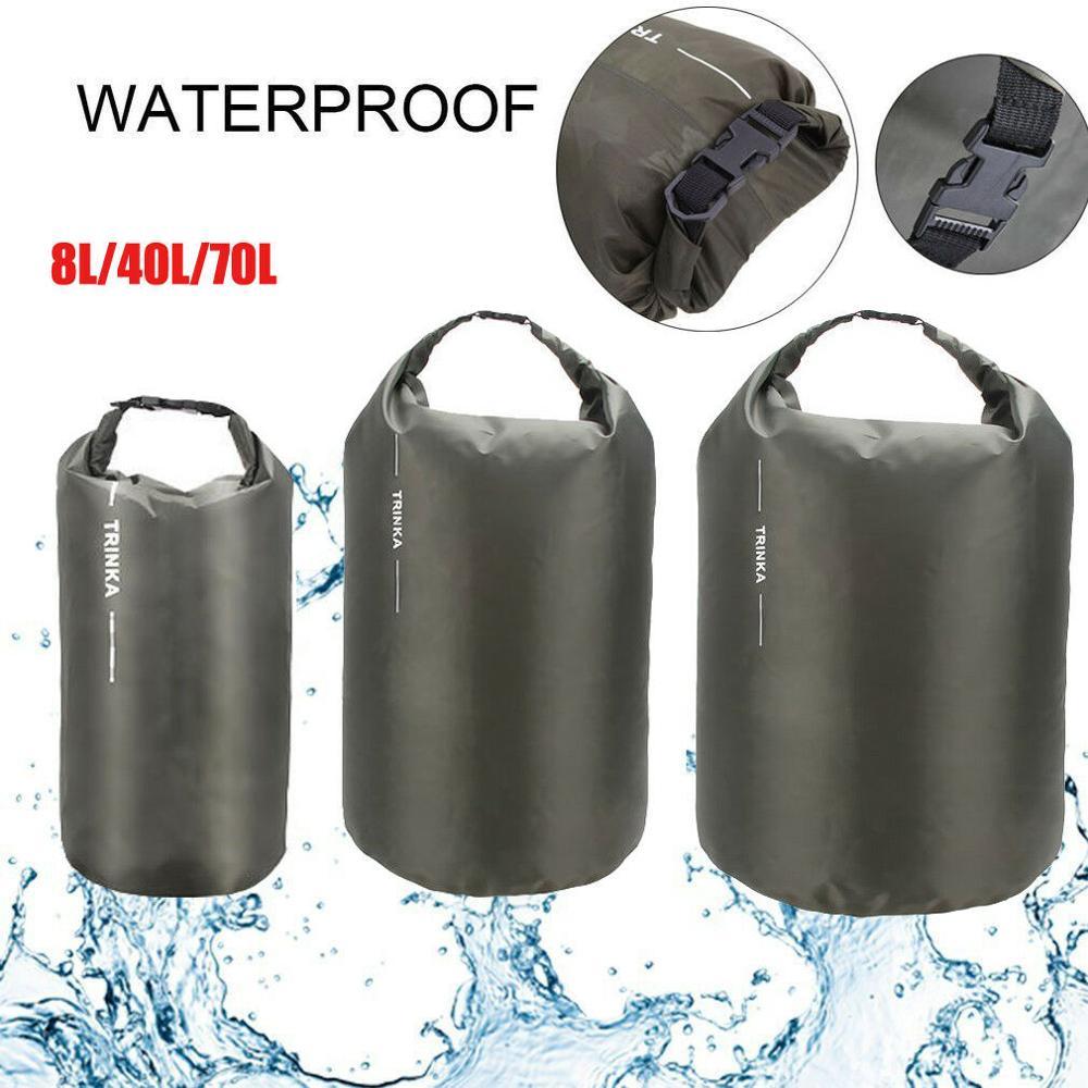 US Portable Waterproof Dry Bag Sack Pouch Boating Kayaking Camping Rafting Hiking Drifting Bag