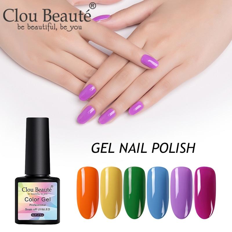 Clou beaute 8ml primer gel verniz semi permanente vernis gel polonês conjunto tudo para unhas manicure lakiery hybrydowe gel laca