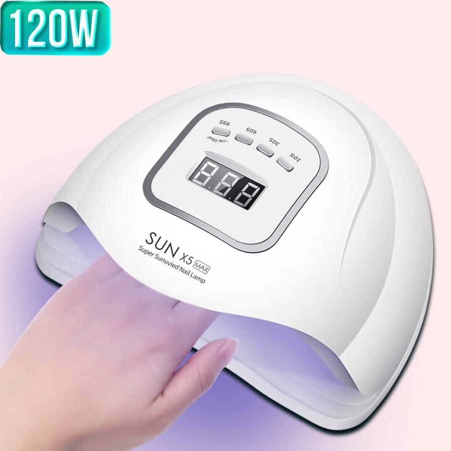 Sun X5 Max / Plus UV Nail Lamp Gel Polish Dryer UV Curing Light Pedicure Manicure Machine Nail LED Lamp