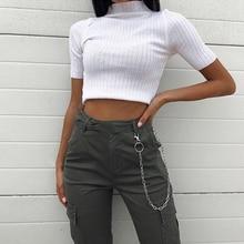 Seksowna moda damska krótka koszula Casual solidna pół rękawa krótki koszulka z golfem koszulka topy lato gorąca sprzedaż podstawowe Sexy pępek top