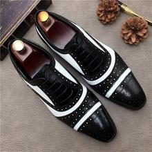 Men Leather Shoes Lace Up Casual Shoes Dress Shoes Brogue Shoes Spring Ankle Boots Vintage Classic M